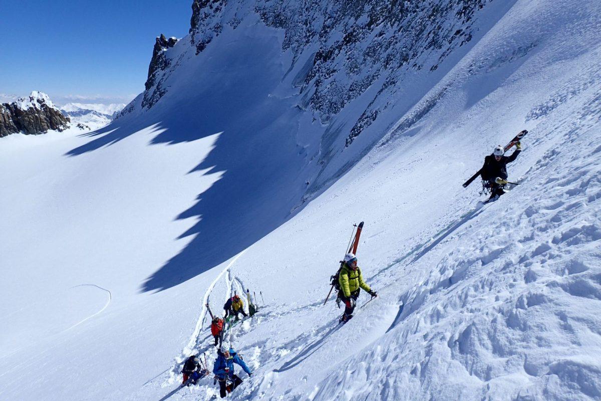 Ski-Alpinisme sur glacier